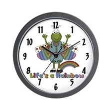 Life's a Rainbow Wall Clock