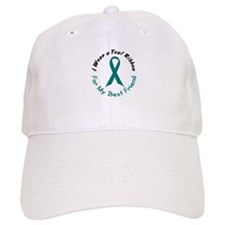 Teal Ribbon For My Best Friend 4 Baseball Cap