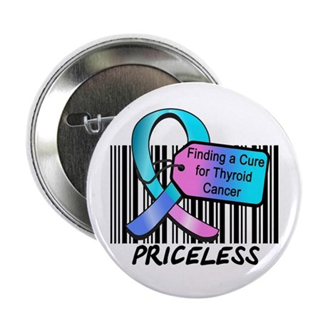 "Thyroid Cancer Cure 2.25"" Button (10 pack)"