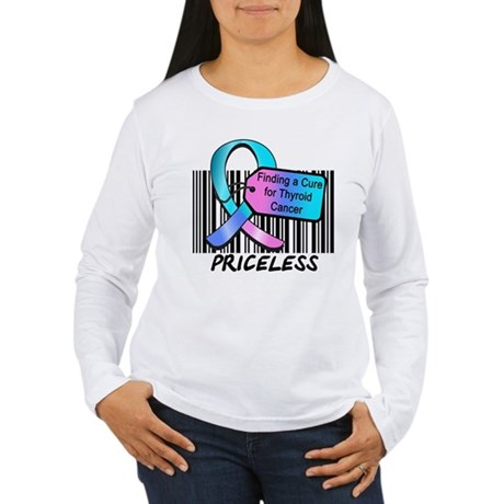 Thyroid Cancer Cure Women's Long Sleeve T-Shirt