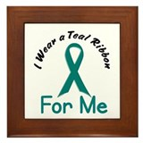 Teal Ribbon For ME 4 Framed Tile