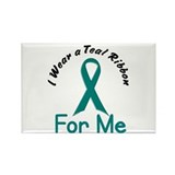 Teal Ribbon For ME 4 Rectangle Magnet (10 pack)