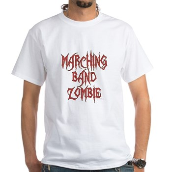 Marching Band Zombie White T-Shirt