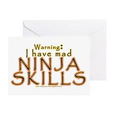 Mad Ninja Skills Greeting Card