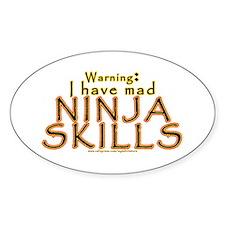 Mad Ninja Skills Oval Decal