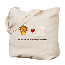 Lion and Lamb - Fell in love Tote Bag