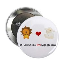 "Lion and Lamb - Fell in love 2.25"" Button"