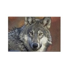 Wolf Art Rectangle Magnet