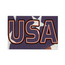 USA (Flag) Rectangle Magnet