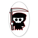 Grim Reaper Oval Sticker (50 pk)