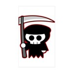 Grim Reaper Rectangle Sticker 50 pk)