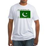 Pakistan Pakistani Flag Fitted T-Shirt