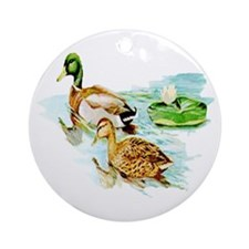 Mallard Ducks Ornament (Round)