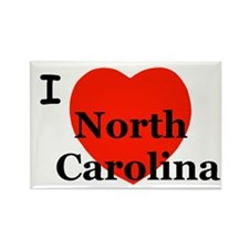 I Love North Carolina! Rectangle Magnet (10 pack)