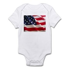 July 4th US Flag Infant Bodysuit