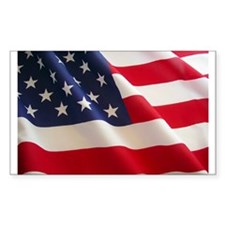 July 4th US Flag Rectangle Sticker 10 pk)