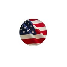 July 4th US Flag Mini Button (100 pack)