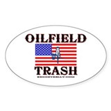 American Oilfield Trash Oval Decal