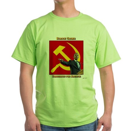 Dangerous Obama Green T-Shirt