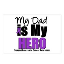 Purple Ribbon Hero Postcards (Package of 8)
