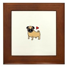 Fawn Pug Love Framed Tile