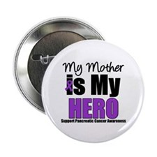 "Purple Ribbon Hero 2.25"" Button"
