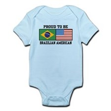 Proud Brazilian American Infant Bodysuit