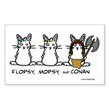 Flopsy, Mopsy, and Conan Rectangle Decal