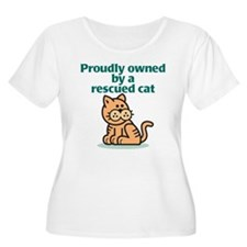 Proudly Owned (Cat) Women's Plus Size T-Shirt