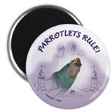 Parrotlets Rule! Blue Female Magnet