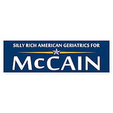 Geriatrics For McCain Bumper Bumper Sticker