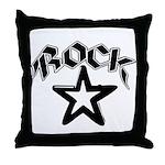 Rock Star Throw Pillow