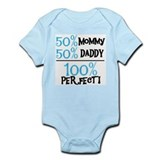 100 Percent Perfect (blue) Onesie