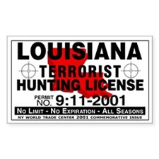Louisiana Terrorist Hunting Permit Decal