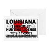 Louisiana Terrorist Hunting Permit Greeting Card