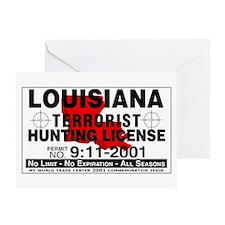 Louisiana Terrorist Hunting Permit Greeting Card