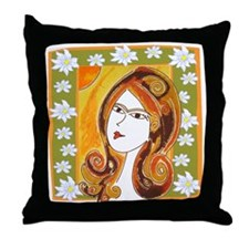 Lady Spring Throw Pillow