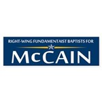 Right Wing Fundies for McCain Bumper Sticker