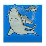 sharks Tile Coaster