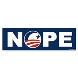 NOPE - Anti-Obama Bumper Sticker (10 pk)
