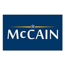 McCain For President Rectangle Decal