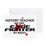 History Tchr Cage FIghter by Night Greeting Cards