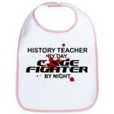 History Tchr Cage FIghter by Night Bib