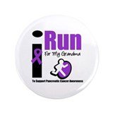 "Purple Ribbon Hero 3.5"" Button"