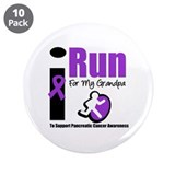 "Purple Ribbon Hero 3.5"" Button (10 pack)"