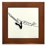 Guitar Rock Framed Tile