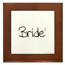Bride (Squared) Framed Tile