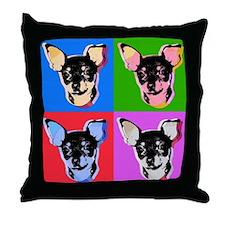 Pop Art Chihuahua Warhol style Throw Pillow