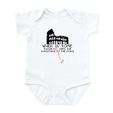 Atheist slogan atheist lions Infant Bodysuit
