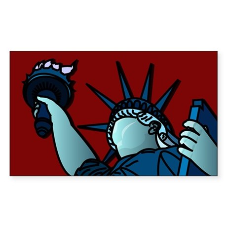 American Liberty Rectangle Sticker